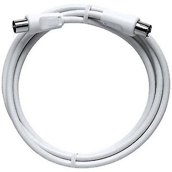 Axing Antennas Cable [1x Belling-Lee/IEC plug 75Ω - 1x Belling-Lee/IEC socket 75Ω] 1.50 m 85 dB White