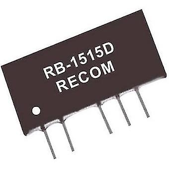 RECOM RB-0512D 1 W DC/DC ממיר, SIP7 RB-0512D +/-12 V +/-42 mA-קלט/פלט מתח 1 W