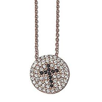 Cross pave set necklace