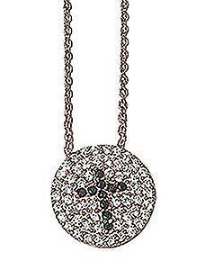 Cross pave set necklace