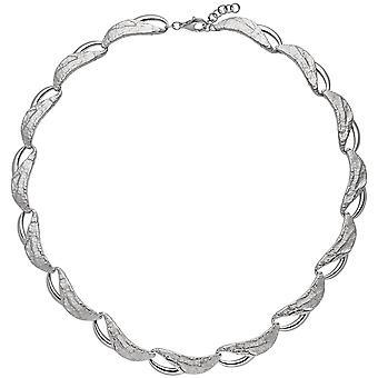 trendiga halsband 925 rodium-plated sterling silver 50 cm karbinhake delvis Klubbad