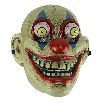 Blue Eye Old Looking Creepy Googly Eyed Clown Costume Mask