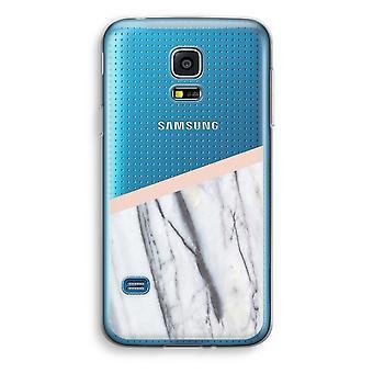 Samsung Galaxy S5 Mini transparentes Gehäuse (Soft) - ein Hauch von Pfirsich