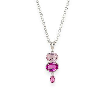Pink pendant with crystals from Swarovski 9249