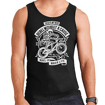 Rebel Without A Cause Skeleton Bicycle Men's Vest