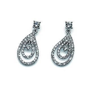 Oliver Weber Post øreringe skønheden Rhodium krystal