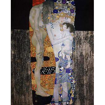 The woman's three alders, Gustav KLIMT, 50x40cm