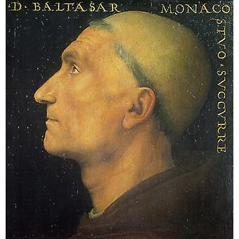 Retrato de Baldassa Vallombrosano, Pietro Perugino, 50x50cm