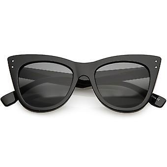 Damen Oversize Cat Eye Sonnenbrille Wide Arm Square Objektiv 51mm