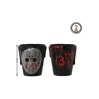 Halloween og horror sæt af 2 fredag den 13 skud briller