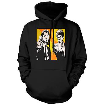 Mens Hoodie - Pulp Fiction - Pop Art - Vincent & Jules
