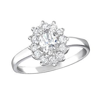 Blume - jeweled 925 Sterling Silber Ringe - W15455X