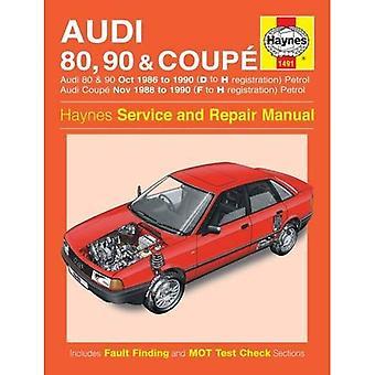 Audi 80, 90 & Coupe Workshop handleiding (Haynes Service en reparatie handleidingen)