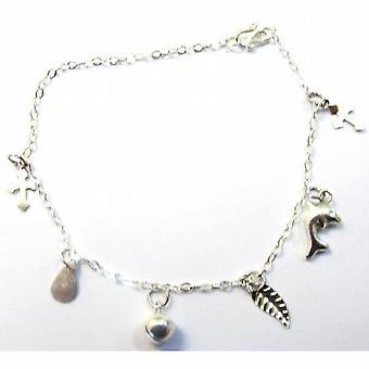 Pulseira de prata esterlina pendente