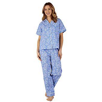 Slenderella PJ3134 Women's Cotton Jersey Floral Pajama Pyjama Set