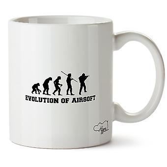Hippowarehouse Evolution Of Airsoft 10oz Mug Cup