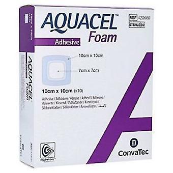 AQUACEL FOAM ADH 10X10CM 420680 10 Film Foam