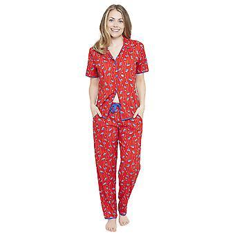 Red Mia Floral Pyjama imprimir topo Cyberjammies 4128 feminino