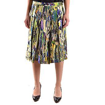 Dries Van Noten Ezbc007016 Women's Multicolor Satin Skirt