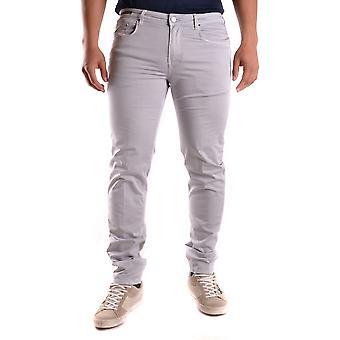 Pt05 Ezbc084049 Men's Grey Cotton Jeans