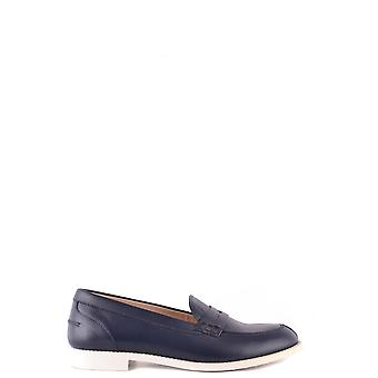 Tod's Ezbc025044 Women's Blue Leather Loafers