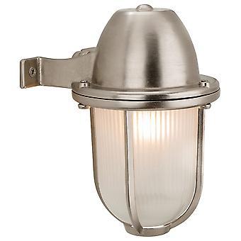 Firstlight-1 luz de pared al aire libre de níquel, vidrio esmerilado IP64-3435NC
