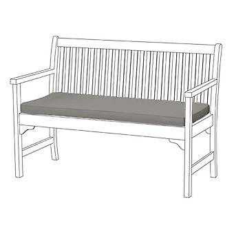 Gardenista® Grey Water Resistant Seat Pad for 2 Seater Bench