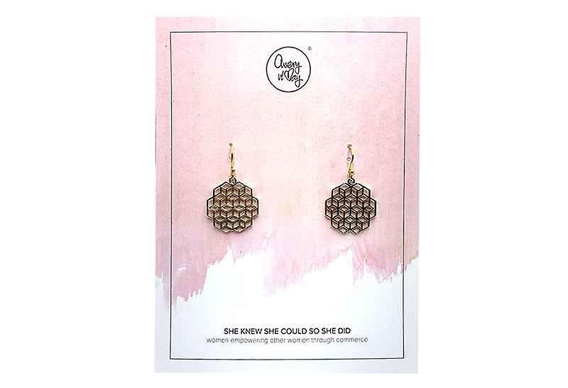 Avery and May Handmade Cubism Filigree Earrings for Women