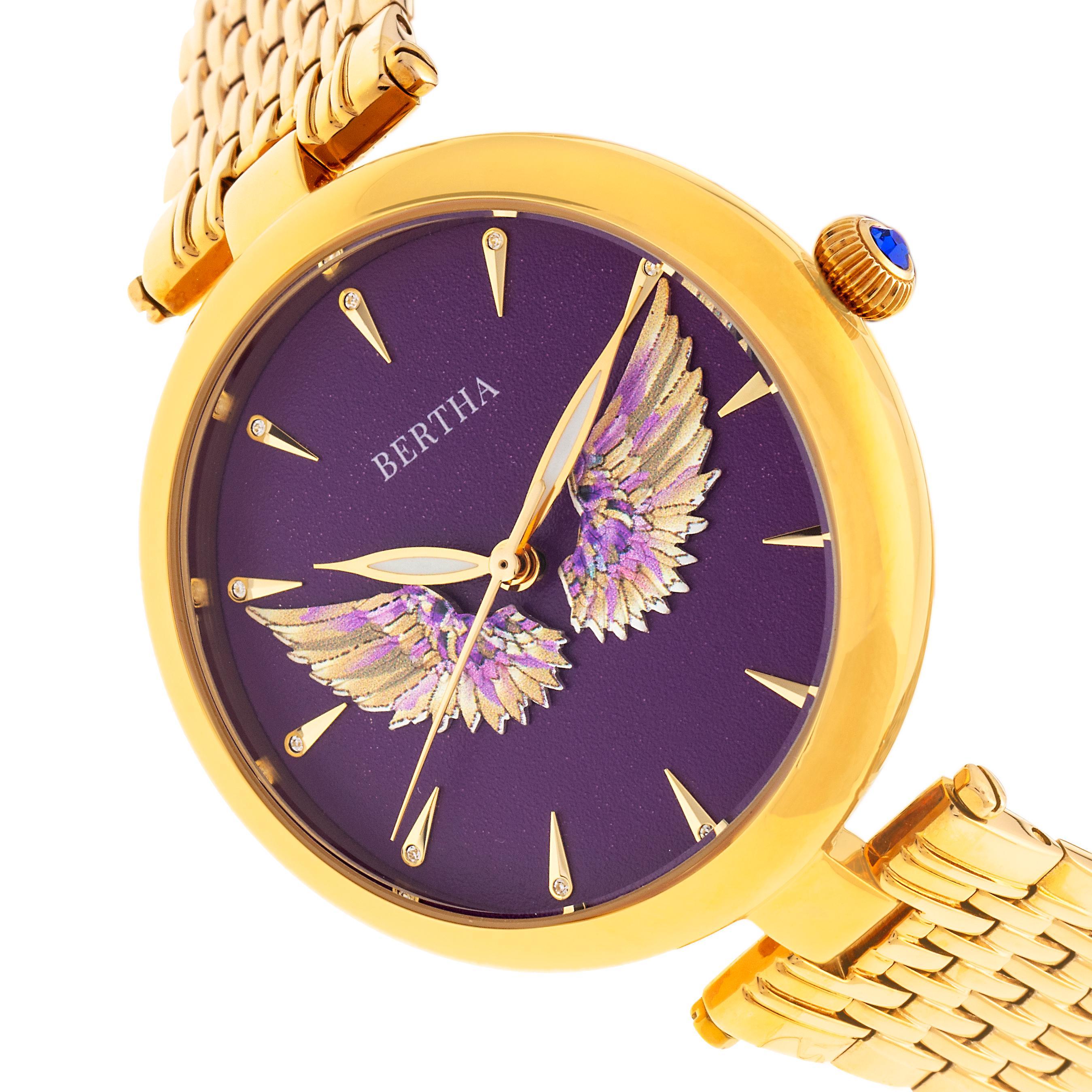 Bertha Micah Bracelet Watch - Gold