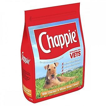 Nourriture sèche pour chiens de céréales à grains Chappie 3kg poulet & ensemble