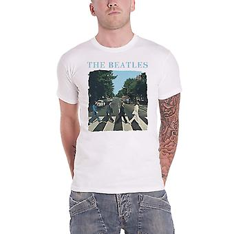The Beatles T Shirt Abbey Road crossing Band Logo new Official Mens White
