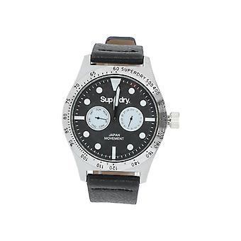 Superdry SYG106B Herren Armband-Uhr Quarz Analogue schwarz NEU OVP sportlich