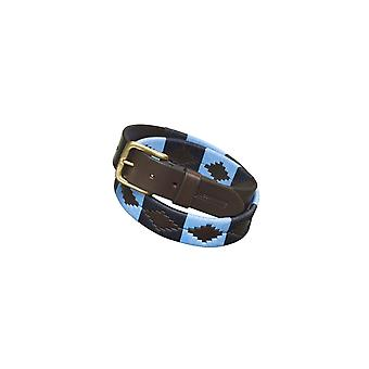 Pampeano Azules Leather Polo Belt Blue