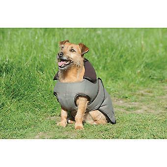 Casaco de cão weatherbeeta Tweed-Olive Tweed