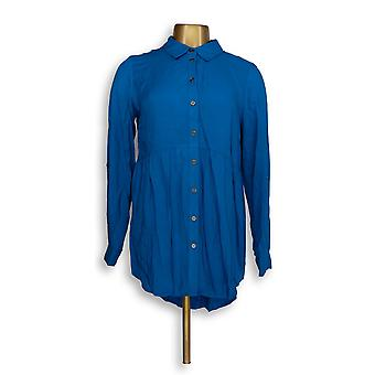 Joan Rivers Classics collectie vrouwen ' s top XXS blouse blauw A293988