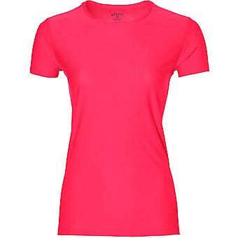 المرأة الأكمام قصيرة Asics تشغيل ممارسة اللياقة البدنية القميص العلوي