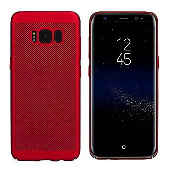 Cover Mesh Holes pour Samsung S8/S8 Duos Red