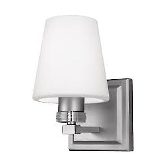 Feiss VS22201SN 1-Light Sconce Wall Light Fixture Satin Nickel