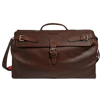 Simon Carter Norfolk Vintage Leather Weekend Bag - Brown