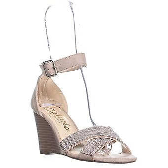 Callisto Montana Ankle Strap Wedge Sandals, Taupe, 9 US