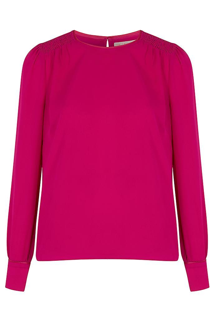 Joy Alissa Smocked Shoulder Top Pink