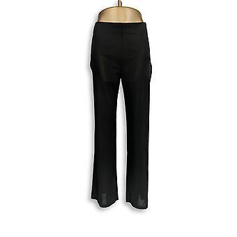 H di Halston Donne's Pantaloni Maglia Larga Gamba Nero A269448