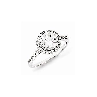 925 Sterling Silver CZ Cubic Zirconia Simulated Diamond Round Ring Jewelry Gifts for Women - Ring Size: 6 to 8