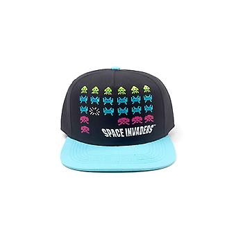 Space Invaders Baseball Cap Formation Retro Gamer new Official Black Snapback
