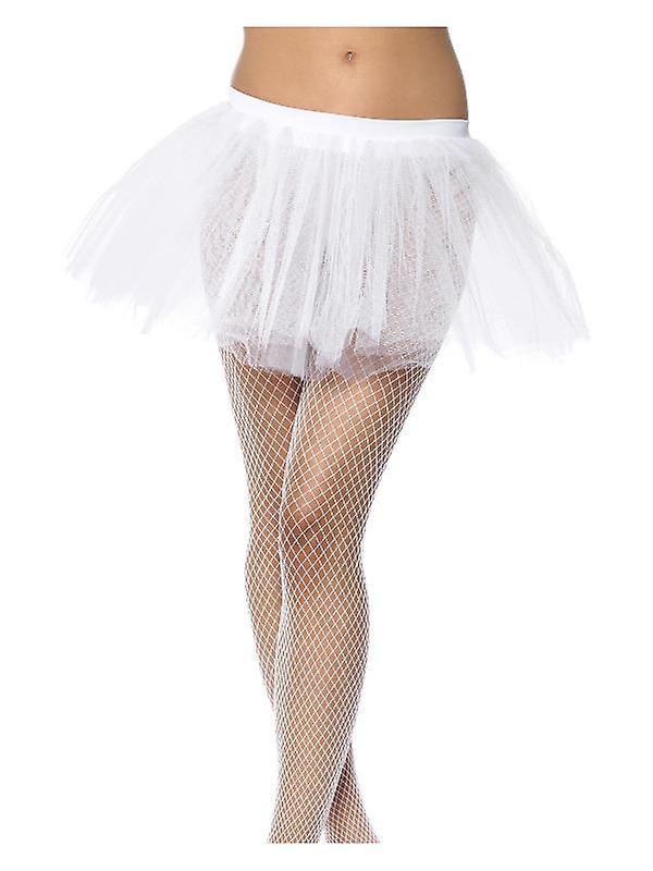 Womens White Tutu Underskirt  Fancy Dress Accessory