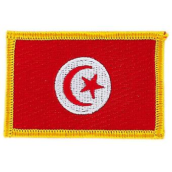 Patch Ecusson Brode Flag Tunezja Flaga Thermocollant Insigne Blason