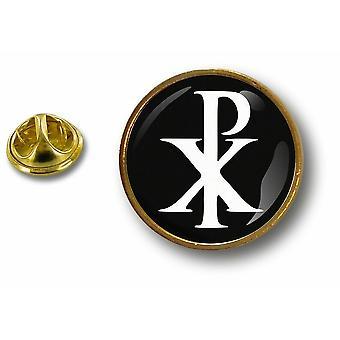 Pine PineS Badge Pin-apos;s Metal Button Chrisme Christian Symbol Jesus Chi Rho