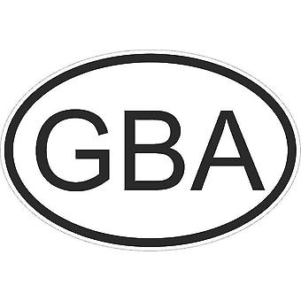 Adesivo adesivo adesivo adesivo bandiera Ovale Codice Paese Auto Aurigny Aurignais Gba