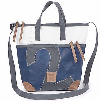 360deg Deern mini shoulder bag blue/white, number grey canvas bag