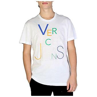 فيرساتشي جينز - ملابس - تي شيرت - B3GSB74A_36590_003 - رجال - أبيض - XXL